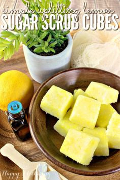 Are you looking for an easy sugar scrub cube recipe to awaken your senses? Our DIY citrus sugar scrub cubes feature coconut oil, shea butter soap, essential oils and more natural ingredients.