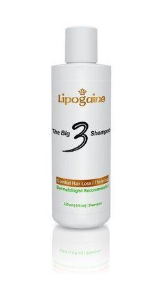 Lipogaine Big 3 Shampoo for Hair Loss/ Thinning Hair (8 oz Professional Formula 1% Ketoconazole Mild Shampoo Enhanced with Biotin, Saw Palmetto, Emu Oil) by Lipogaine. $25.00. Contains Emu Oil to avoid dry skin caused by ketoconazole. Sulfate Free. A professionally formulated mild shampoo for thinning hair with 1% ketoconazole.. Paraben Free. Contains Saw Palmetto, Biotin, Niacin. Lipogaine Big 3 shampoo is a professionally formulated shampoo for people with hair loss/...