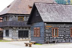 Admire Slovak folk art in Čičmany open-air museum White Ornaments, One Day Trip, Beautiful Castles, Fairy Land, Pilgrimage, House Painting, Luxury Travel, Cover Photos, Places To Go