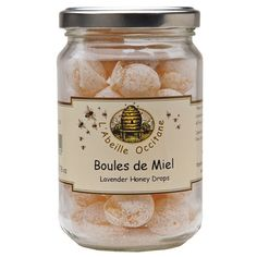Our Lavender Honey Filled Candy Drops are powdered hard candy filled with liquid lavender honey from Provence, France.