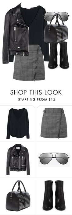 """""""Untitled #19073"""" by florencia95 ❤ liked on Polyvore featuring H&M, Topshop, Acne Studios, Yves Saint Laurent and Miista"""