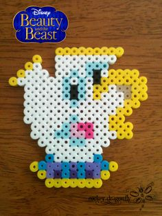 From The Beauty and the Beast: Chip the Cup !!! Perler Bead Creation by: RockerDragonfly