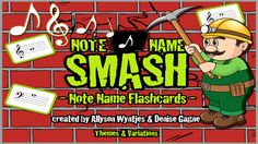 Note Name Smash by Themes & Variations Inc Music Class, Grade 3, Celebrations, Apps, Notes, Learning, Report Cards, Studying, Notebook