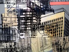 """Detail """"Transition"""" Cristina Guerreiro Inside Outside, Set Me Free, Media Images, Deconstruction, New Artists, Willis Tower, Line Art, Abstract Art, Urban"""