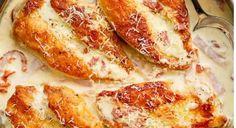 Recette : Poulet crémeux au parmesan et à la carbonara, sans oeuf.