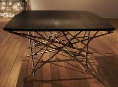 Glithero | Raison d'Etre (coffee table) | 2013, Bronze, walnut wood | Unique | UK http://www.galleryfumi.com/Works/Tables/Low-Tables/