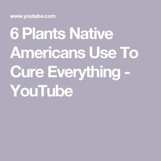 6 Plants Native Americans Use To Cure Everything - YouTube