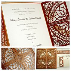 Wedding invitation by Luscious Verde