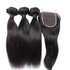 Moresoo 3 EchtHaare Tressen 18zoll/45cm Glatt Brasilianisch Virgin Haare Weave und 1pc 12zoll/30cm Lace Closure (3.5*4 zoll) fur die Herstellung von Perucken Moresoo http://www.amazon.de/dp/B00UV3Q9I8/ref=cm_sw_r_pi_dp_yW29vb1YEWHQ8