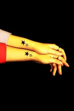 Romantic Couple Star Tattoo