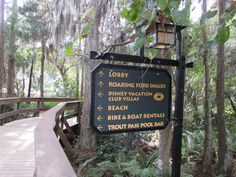 Wilderness Lodge signage
