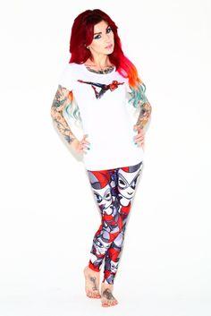 Chibi Harley Quinn leggings