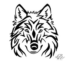 Tribal Wolf Head Tattoo by RayaHinato.deviantart.com on @DeviantArt