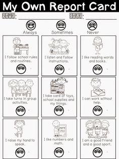 Education: My Own Report Card Freebie - for Parent/Teacher Interviews!!