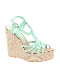 HAMMOCK Leather Espadrille Wedges. Perfect for this summer. (: