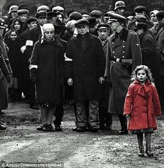 Even though it's from a depressing, tragic film, there's still some inspiration in the little girl wearing the red coat. - Schinder's List.
