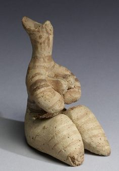 Fertility goddess figurine - found Tel Halaf, circa 7th c. BC, from ancient Anatolia