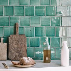 Glazed Tiles, Slate Tiles, Terracotta Tiles & More: Green Kitchen Tiles, New Kitchen, Discount Tile, Open Plan Kitchen Diner, Childrens Bathroom, Glazed Walls, Unique Tile, Glaze Paint, Fired Earth