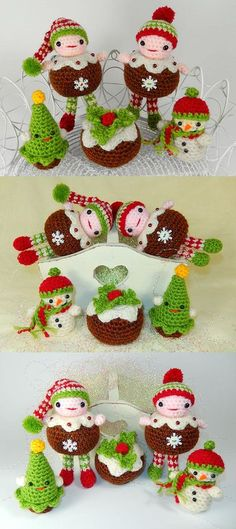 Christmas Pudding People Amigurumi Pattern