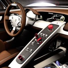 Porsche 918 RSR Interior Custom Car Interior, Car Interior Design, Truck Interior, Maserati, Bugatti, Lamborghini, Ferrari, Porsche 918, Porsche Cars