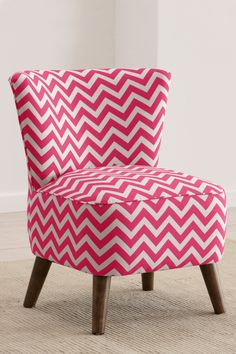 pink chevron chair!  Reminds me of my single days when I could decorate...
