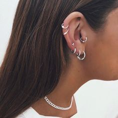 Angel Aura Crystal Point Jewelry, Raw Rainbow Quartz Earrings, French Ear Wire Dangle Earrings, Unique Bridal Shower or Wedding Day Luxury - Fine Jewelry Ideas - Bali hoops – San Saru - Piercing Face, Pretty Ear Piercings, Ear Peircings, Ear Piercings Cartilage, Body Piercings, Cartilage Earrings, Dangle Earrings, Rainbow Quartz, Accesorios Casual