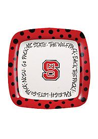 NC State Wolfpack Square Plate