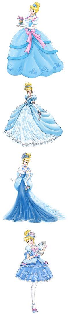 Cinderella dress designs by * Jenny Chung*