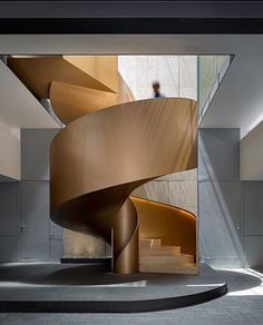 38 Inspiring Modern Staircase Design Ideas is part of architecture - If you are building a home and need to decide on the type of stairs you want to use then […] Stair Handrail, Staircase Railings, Staircase Design, Stairways, Staircase Ideas, Staircase Remodel, Open Staircase, Railing Ideas, Spiral Staircases
