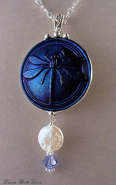 Vintage Bohemian Czech Glass Buttons made into Jewelry