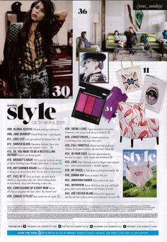 Design in Print│ The Sunday Herald Sun Sunday Style October 2013 featuring the Arthur G Benson Chair