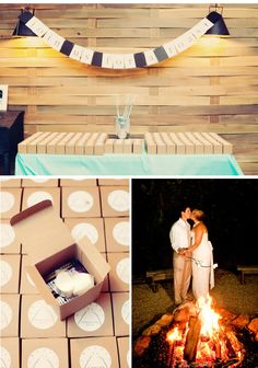 Not too sure about brides and bonfires but this is a super cute idea!