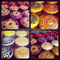 Assorted selection of floating candles with a 'Spring' theme #nishel #nishelcreations #henna #hennaart #hennacandles #mehndi #mehndidesign #art #craft #floatingcandles #candles #spring #easter #home #homedecor #interiordesign #decor #design #gold #silver #purple #flowers #floral #gift #giftideas #glitter #square #squarecandles #eastercandles #tealights