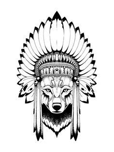symbols aztec 'Indian Wolf Headdress' iPhone Case by eazypeazy Native Tattoos, Wolf Tattoos, Body Art Tattoos, Stomach Tattoos, Forearm Tattoos, Indian Headdress Tattoo, Wolf Headdress, Indian Tattoos, Wolf Tattoo Design