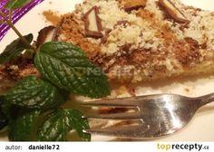Karamelovo-jablečné pohlazení -recept obrátená jablková roláda, plnka karamelový puding s kyslou smotanou