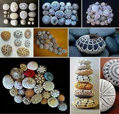 Piedras y ganchillo...