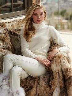 Elsa Hosk for Gorsuch - Fall 2014 Elsa Hosk, Ski Fashion, Fashion Mode, White Fashion, Fashion Beauty, Moda Ski, Apres Ski Mode, Winter Wear, Autumn Winter Fashion