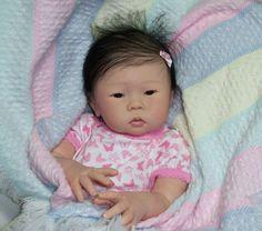 Asian Baby Girl Doll Liana  Reborn Art by Joyce, Kustom Kraft Nursery