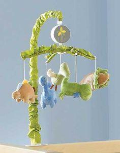 Green, Brown and Blue Dinosaurs Baby Boys Nursery Crib T-Rex Musical Mobile | eBay