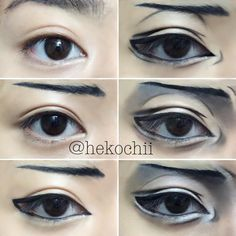 Levi Ackerman eye tutorial! Doing this was really challenging bc my eyes literally looked nothing like his Also this look is so dramatic and I'm not sure if I actually like this tutorial Crona Gorgon is next! Maybe I'll take this down and try again? what do you guys think?