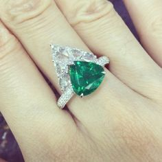 NIGAAM (@nigaam_jewels) on Instagram: #emerald #diamond #ring
