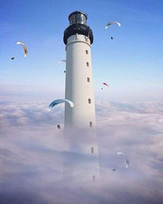 I Create Mind-Bending Pictures To Make You Look Twice Photomontage, Montage Photography, Cn Tower, Lighthouse, Mists, Photo Art, Illusions, Photo Editing, Photoshop