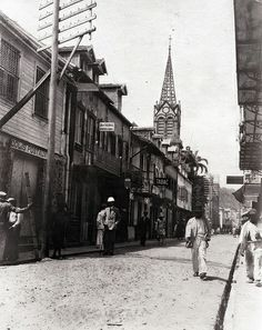 Street, Fort de France, Martinique, 1930