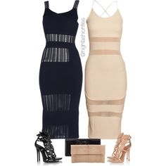 A fashion look from August 2015 by highfashionfiles featuring Roland Mouret, Giuseppe Zanotti, Perrin and Primary