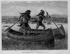 Wij dachten altijd dat stand up paddle boarden vanuit Hawaï de oceaan was overgestoken. Door deze oude plaat van peddelende Indianen beginnen we nu toch te twijfelen.