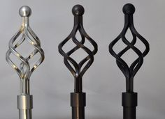Decorate with a twist with our Forged Iron Birdcage rod sets. Available in 3 lengths and 3 finishes. — urbanest living
