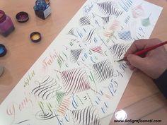calligraphy, copperplate, flourishing, Fahri Deniz