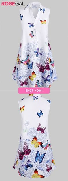 Rosegal Plus Size Sleeveless Butterfly Print Graphic Blouse Plus Size Blouses, Plus Size Tops, Fresh Outfits, Casual Outfits, Outfits Plus Size, Fancy Sarees, Crop Top Shirts, African Fashion Dresses, Butterfly Print
