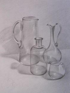 Стеклянное - Рисунок, 44x64 cm ©2004 - natalisart - Стеклянное Натюрморт