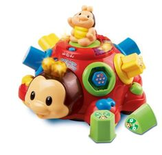 VTech Crazy Legs Learning Bug by VTech. $23.45. Recommended Age: 12 months - 3 years. Pull or pop with this cute bug character for shape sorting fun. Includes a Learning Mode and a Music Mode Pull string stores in battery compartment until baby's ready. Teaches shapes, counting, objects in nature and music.